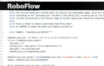 roboflow, a semi-automated tensorflow explorer